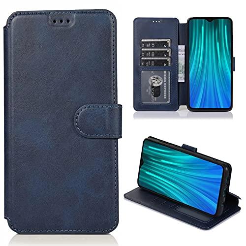 Dmtrab Thone Case para Xiaomi Redmi Note 8 Pro Caja de la Billetera,Funda Protectora de la Cubierta Protectora Horizontal de la Hebilla de la Textura de la Pantorrilla con el Soporte y Las Ranuras de