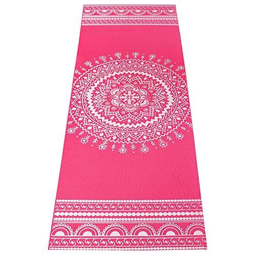 Strauss Mandala Yoga Mat, 5 mm, (Pink)