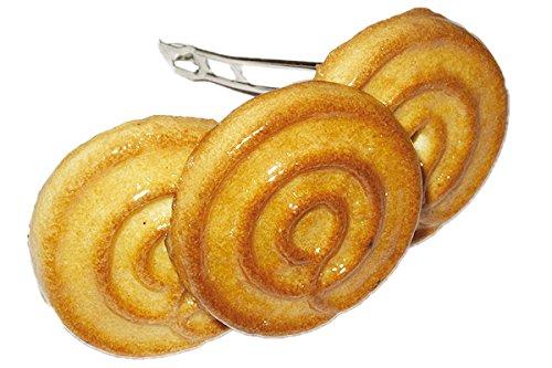 Biscuits – Original ERRO Barrette à cheveux – Pince à cheveux ronde en véritable Biscuits, cheveux clip, cheveux bijoux, Idée de Cadeau, cadeau d'anniversaire Crazy Clips Collection
