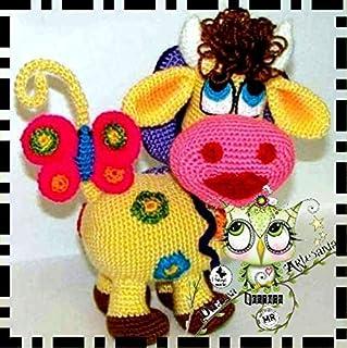 Crochet Cuddle and Play Cow Baby Blanket Crochet Pattern en 2020 ... | 320x319