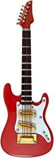 Red Electric Guitar Miniature Replica Magnet, Size 4 inch
