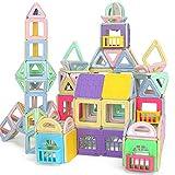 TGRBOP Kids Magnet Tiles Toys 123Pcs 3D Magnetic Building Blocks Tiles Set, Super Durable Magnet Tiles Construction Toys Construcción De Juguetes Educativos para Niños Y Niñas Regalos