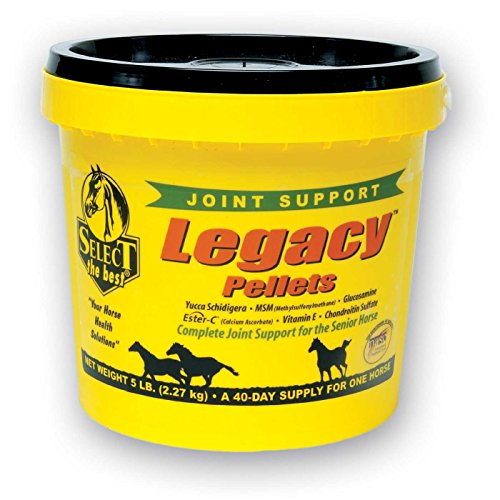 Select The Best 5 lb 40 Day Supply of Legacy Pellets Complete Joint Support for Senior Horses