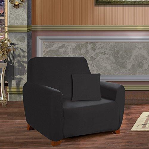 Elegant Comfort 34RW-Jersey Slip-Chair-Black