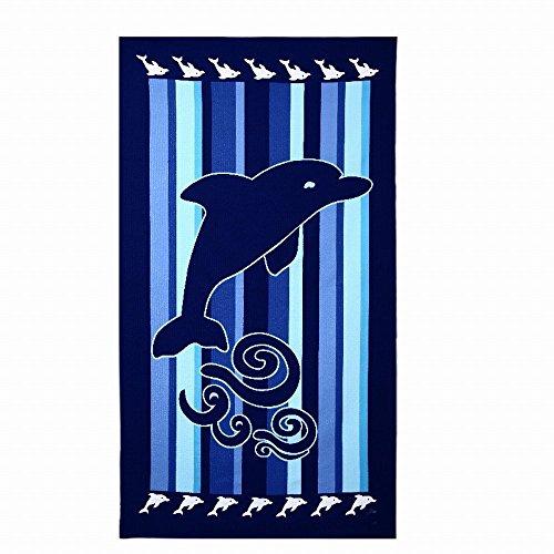Toalla De Playa Grande Para Mujer Hombre XXL 100x180cm Microfibra Azul Delfines Toalla De Baño Ideal Para La Playa Piscina o Ducha Yoga