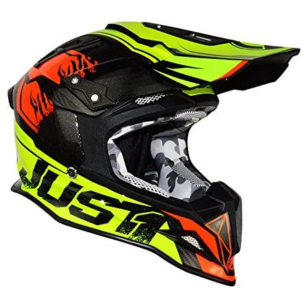 Just1 Dominator Adult J12 Off-Road Motorcycle Helmet - Neon Lime/Large