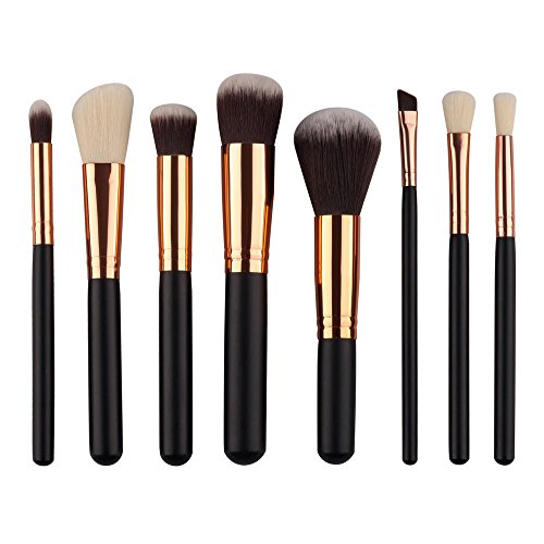 MEIYY Pinceau de maquillage Makeup 8Pcs Makeup Brush Mini Cosmetic Eyebrow Eyeshadow Brush Blush Foundation Brushes Sets Kits Tools Kit