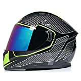 Casco moto uomo doppio obiettivo, casco moto apribile anti-appannamento Casco moto da cross outdoor Accessori moto da montagna