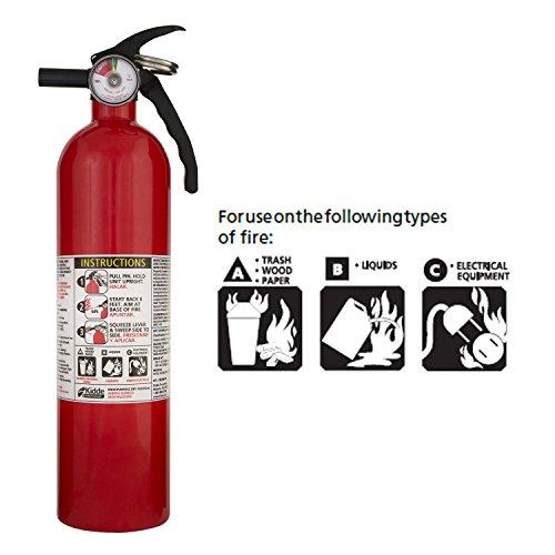 Kidde 408-466142MTL-1 FA110 Multi-Purpose A, B, C Recreational Fire Extinguisher