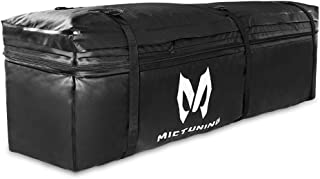 MICTUNING Hitch Rack Cargo Carrier Bag, Expandable 9.5 Cube Feet to 11.5 Cube Feet Waterproof Luggage Storage Bag for Car Truck SUV Van RV Jeep Pickup (Black)