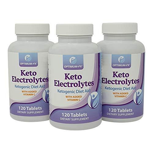 Keto Electrolytes Electrolitos de Apoyo a la Dieta Cetogénica Keto - Incluye Potasio Sódico Calcio Magnesio y Vitamina C - 120 Comprimidos x 900 mg