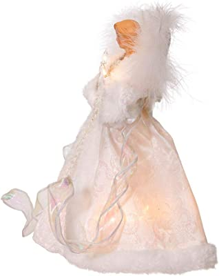 Kurt S. Adler Inch UL 10-Light White Angel Treetop Tree Topper, Multi