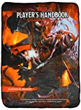 Bioworld Dungeons and Dragons D&D Player's Handbook Fifth Edition Design Plush Throw Blanket