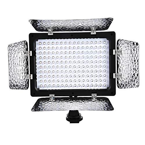 W160 LED Video Light Video Photography Light Panel Panel 6000K Alta luminosità 160PCS LED per videocamera DSLR Videocamera DV, 1150LX Center Brightnes