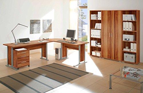 moebel-dich-auf Arbeitszimmer Office Line in Walnuss 7-teilig