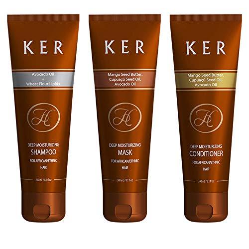 Shampoo, Conditioner und Maske für Afro Hair, krauses trockenes widerspenstiges Haar - 3er-Pack (3 x 240ml)