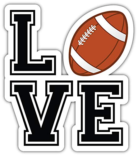 Love American Football Sport Bumper Sticker Vinyl Art Decal for Car Truck Van Window Bike Laptop