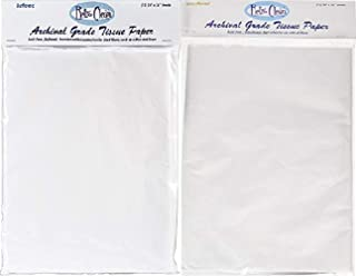 Bundle of Quality Archival Museum Grade Acid Free Tissue Paper Buffered and Unbuffered 12 sheets each 24