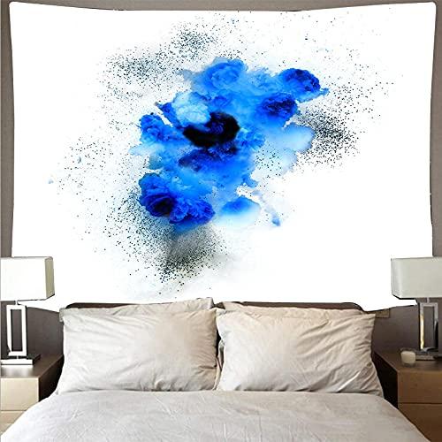 Arazzo Da Parete Tessile Cotone Tapestry Arte Muraria 3D Stampa Fiori Blu(200X150Cm) Multiuso Arazzi Da Muro Può Come Telo Arredo Copridivano/Copritutto/Pareo/Telo Mare