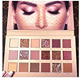 Paleta de sombras de ojos Huda Beauty, paleta de sombras de ojos texturizadas, color oro rosa,...