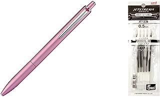 三菱鉛筆 油性ボールペン ジェットストリームプライム 0.5 ライトピンク SXN220005.51三菱鉛筆 ボールペン替芯 ジェットストリーム 0.5 黒 5本 SXR-55P