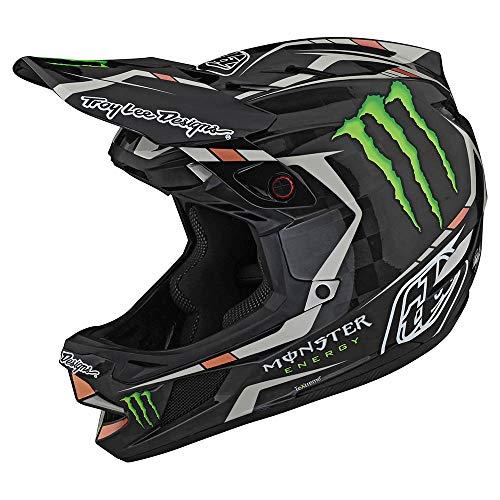 Troy Lee Designs Edición Limitada Adulto | BMX | Downhill | Bicicleta de Montaña D4 Carbon Monster Fairclough Casco (Negro, XL)