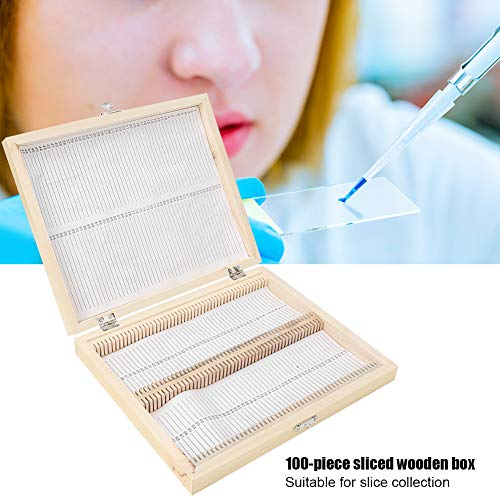 Specimens Slide Box, Microscope Slide Box with a Slide Code for Slice Collection for Kids Student Home School