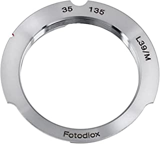Fotodiox Lens Mount Adapter, M39 (39MM x1 Thread, Leica Screw Mount) Lens to Leica M Adapter with 35mm/135mm Frame Line