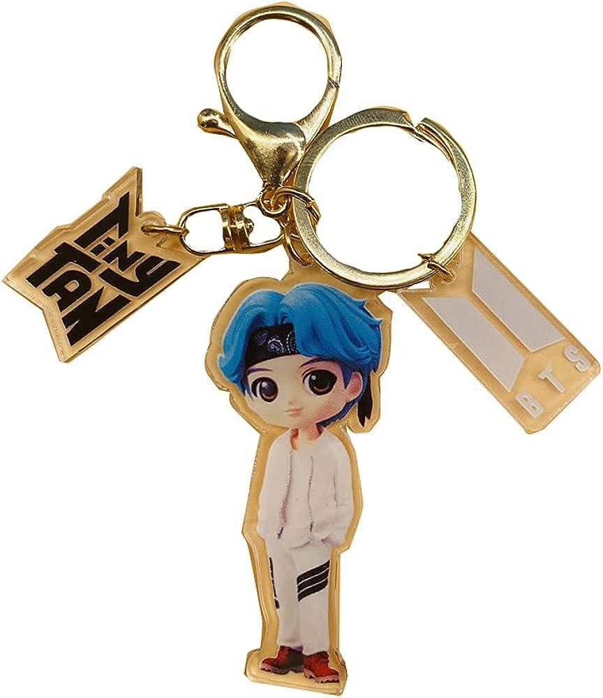 Luoyou KPOP BTS Bangtan Boys Tiny Tan Acrylic KeyChain Keyring Bag Accessories
