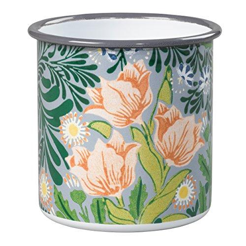 V&A Va055 Morris Petit Pot de Fleurs avec Motif Floral – Vert