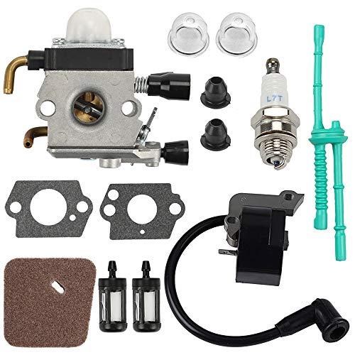 Powtol C1Q-S97 FS55R Carburetor Coil Tune Up Kit fits Stihl FS38 FS45 FS45C FS46 FS46C FS55 FS55RC FS55C Trimmer Weed Eater Replace # C1Q-S186 C1Q-S71 C1Q-S66