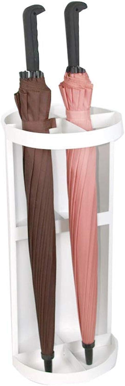 Umbrella Stand, greenical Storage Creative Wrought Iron Umbrella Barrel Floor Umbrella Storage Shelf (color  Black, White) (color   White)