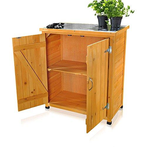 Melko Gartenschrank/Geräteschrank mit 2 Türen 75 cm × 40 cm × 90 cm (B x L x H)