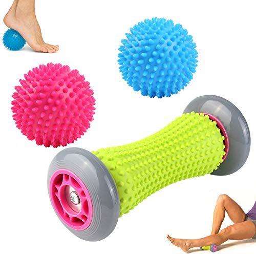 WeyTy Fußmassage Roller Igelball 3er Set, Massageball für Plantarfasziitis, Fußmassage Balls & Muskel Roller - Schmerzlinderung Stressreduzierung und Entspannung durch Stress Triggerpunkt-Therapie