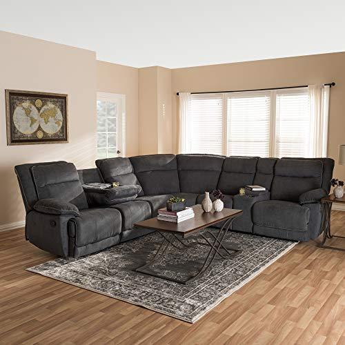Baxton Studio SaBabette Sectional Sofa, gray