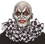 UNDERWRAPS Unisex Adult Clown Collar Costume-White/Black Checkered, One Size