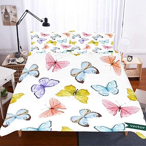 king size butterflies bedding set