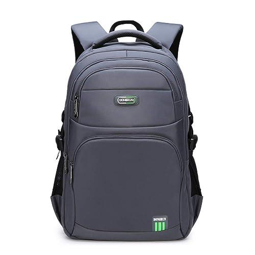 Mode Schultaschen Teenager Jungen wasserdichte Schultasche Business M er Laptop Rucks e Casual Reiserucks e Computer Packsack grau