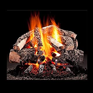 Hargrove 24-in Woodland Timbers Vented Radiant Heat Gas Logs Bundled with System 4 Burner with Safety Pilot Control Propane