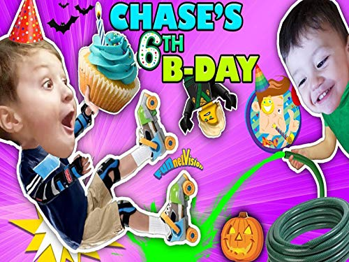 Chase's 6th Birthday! Learning To Roller Skate On 1st Day Of Fall! Ouch!