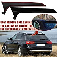 【送料無料】Audi A6 C7 ALLroad TDI Quattro/Avant 2012-2018 リア サイドスポイラー アウディ A6(C7) オールロード/アバンド 欧車パーツ (グロス黒)