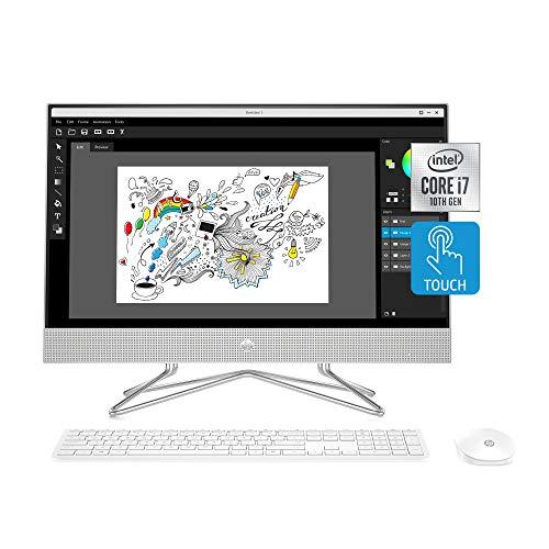 HP 24-inch All-in-One Touchscreen Desktop Computer, Intel Core i7-1065G7 Processor, 16 GB RAM, 512 GB SSD, Windows 10 Home (24-dp0180, Silver)