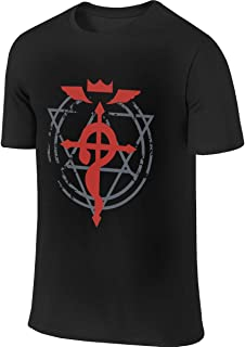 BTVE Fullmetal Alchemist Brotherhood Humor Sports Black T-Shirt