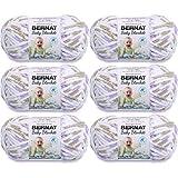 Bernat Baby Blanket Yarn-6/Pk-Little, 6/Pk, Little Lilac Dove Print 6 Pack