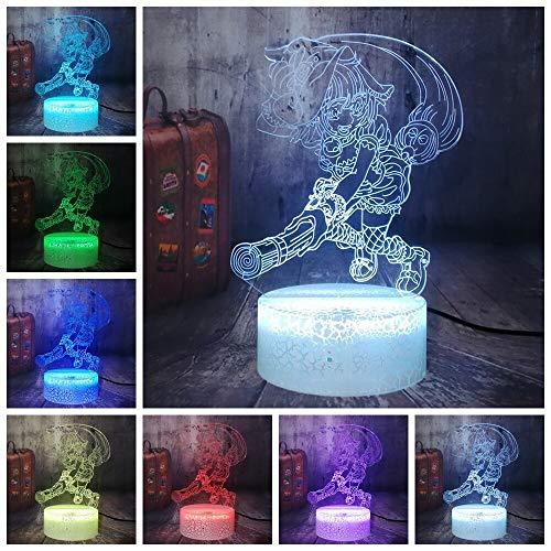 Decoración del hogar única bruja 3D ilusión LED luz nocturna iluminación de inducción bruja lámpara de mesa juguete Halloween luz visual atmósfera de regalo