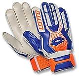 Lotto Glove Gk Spider 800 - Guantes de fútbol para Hombre, Color Blanco/Azul, Talla 11