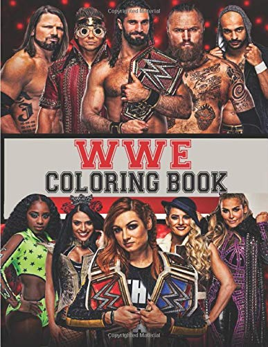 Wwe Coloring Book 30 High Quality Coloring Pages For Fans Great Wwe Fan Gift Wwe Gift Contain Coloring Pages Of All Time Favorite Wwe Superstars Buy Online In Aruba At Aruba Desertcart Com Productid