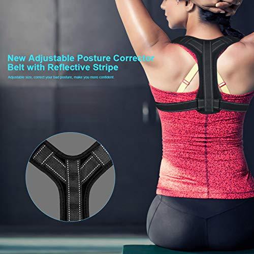 Cinturón de corrección corporal ajustable, cinturón abdominal para dispositivos pequeños, con cojín trasero y bandas reflectantes [3]