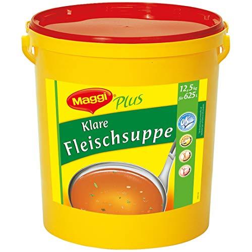 Maggi Plus Klare Fleischsuppe (mit Sonnenblumenöl) 1er Pack (1 x 12,5kg Eimer)