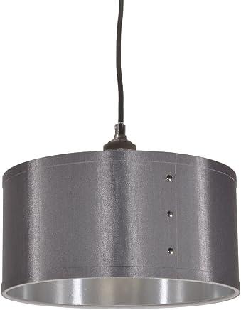 Dainolite 1-lightドラムシェードペンダントシルバー、新しい